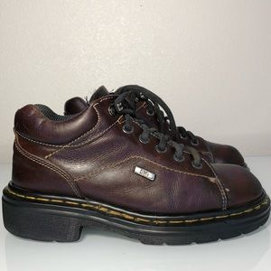 Doc martens ankle boots brown leather women's 6